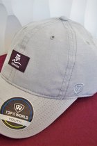 HAT/YOUTH/GREY W/MAROON SQUARE