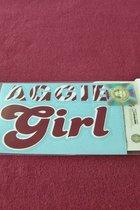 """STICKER/AGGIE GIRL/MRN-WHITE/4 1/2"""" X 3"""""""