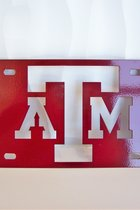 TX A&M LICENSE PLATE/MAROON