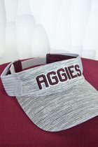 VISOR/TOP/GREY W/AGGIES