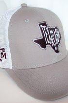 HAT/GREY-WHITE W/STATE A&M