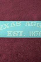 "STICKER/TX AGGIES-EST. 1876/11"" X 3""2.95"