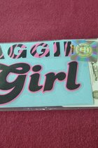 "STICKER/AGGIE GIRL/PINK-BLK/4 1/2"" X 3"""